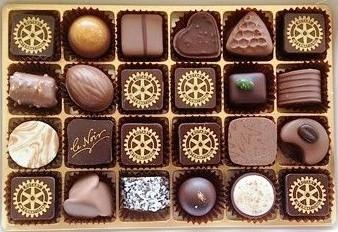 Die Rotary-Pralinen von Läderach Chocolatier
