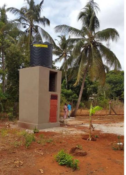 Das Pumpenhaus für die Wassergewinnung
